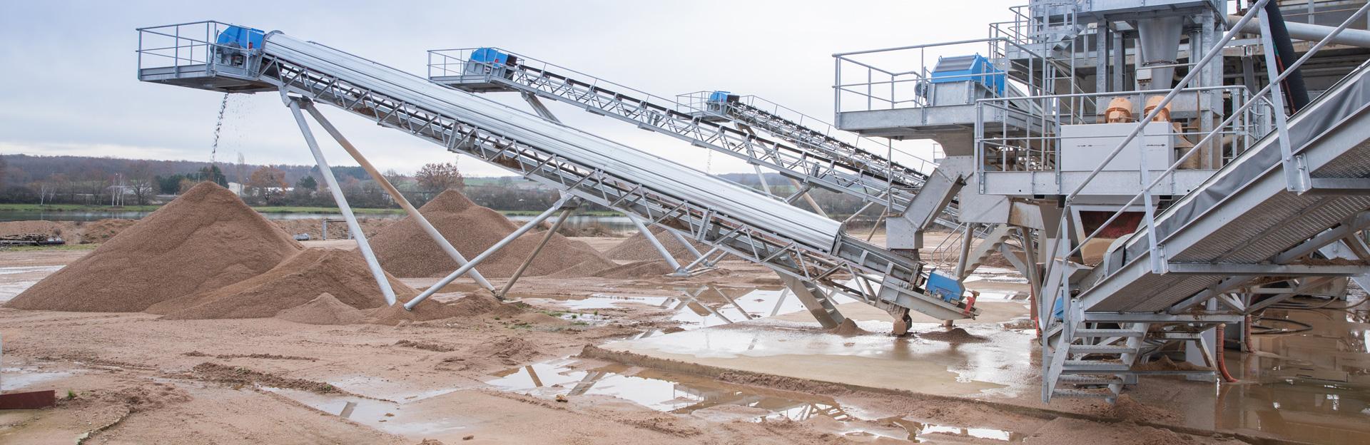 Process d'installations de production de granulats