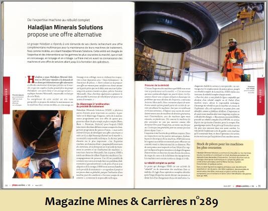 Article à lire dans le Magazine Mines et Carrières n°289 - 2021