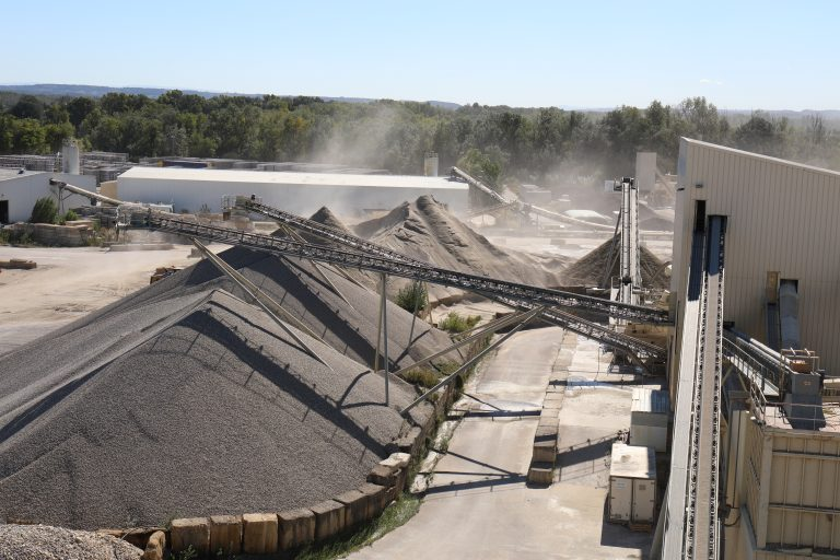 facilities quarry production of aggregate alluvial