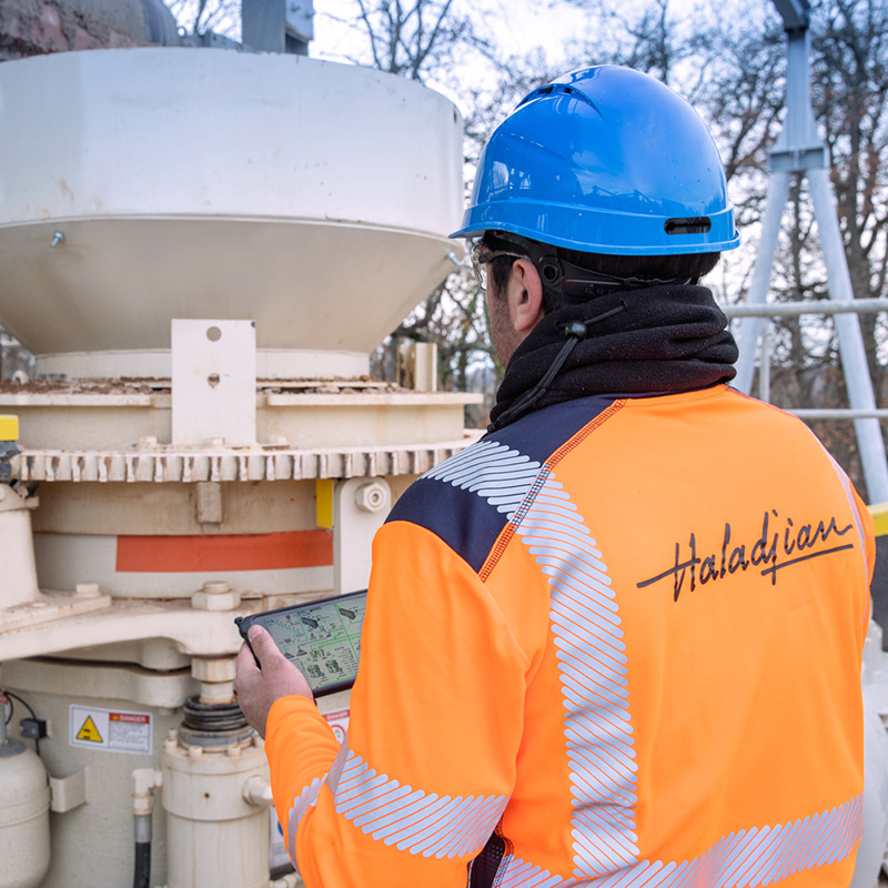 Process optimization by haladjian Minerals Solutions' experts in aggregates industry
